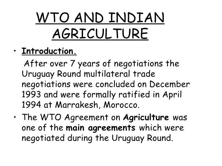 wto india agreement