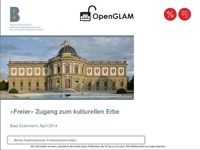 Berner Fachhochschule | Haute école spécialisée bernoise | Bern University of Applied Sciences «Freier» Zugang zum kulture...