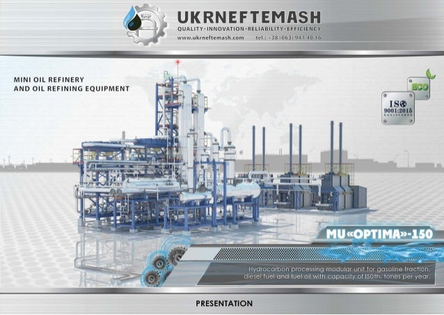 Mini Refinery Crude Oil Distillation Unit Refinery Equipment