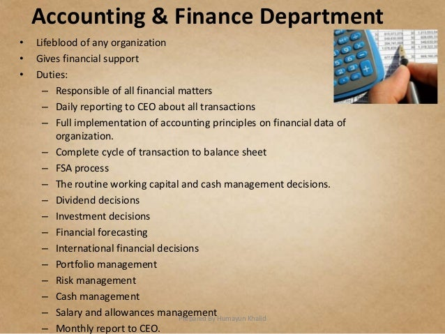 weekly finance and accounting internship reports An intern working in the field of finance helps in the development and  practices  for financial management, payroll, budget control, accounting and so on   assistance may be required in the preparation of monthly or weekly financial  reports.