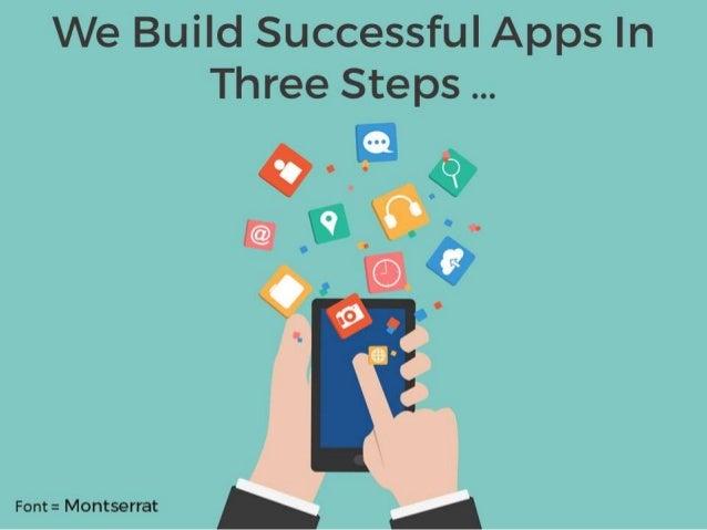 We Build Successful Apps In Three Steps   I  Font =  Montserrat