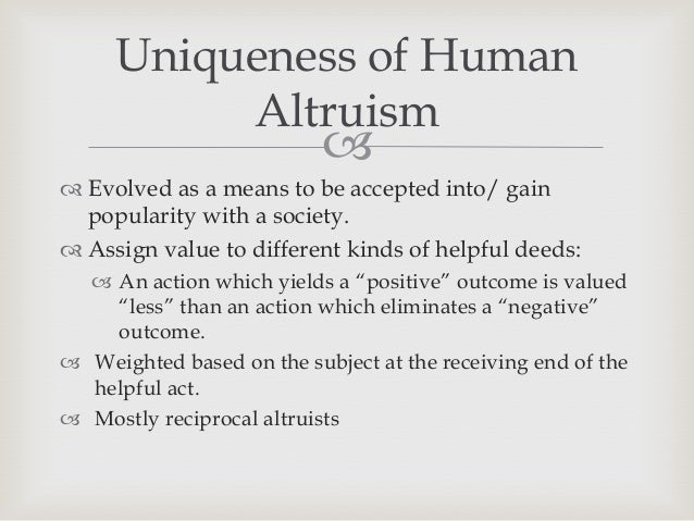 Research paper about altruism