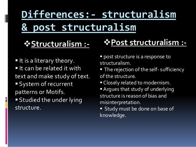 post structuralism thesis Rationale this field examines the development of structuralist and post-structuralist criticism by focusing on a range of texts beginning with the work of nietzsche and extending through contemporary critics such as derrida and spivak.