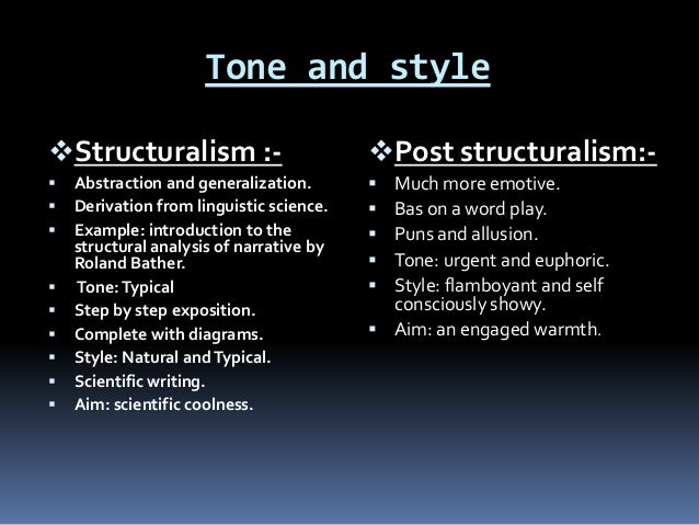 difference between structuralism and poststructuralism pdf