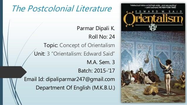 Edward Saids Orientalism: A Reflection
