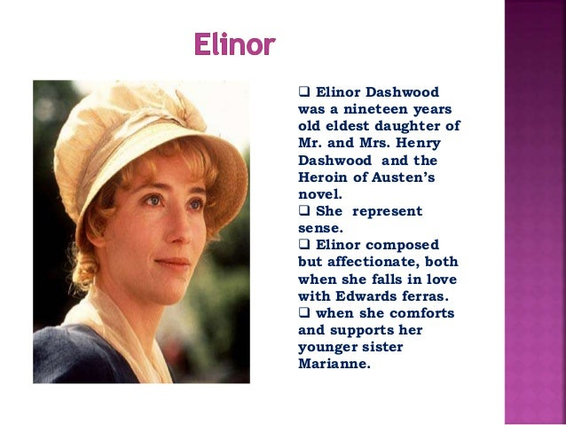 the differences between marianne and elinor in the novel sense and sensibility by jane austen Sense and sensibility by jane austen  in the characters of elinor and marianne elinor's sense is  this novel and have read a lot about jane austen's.