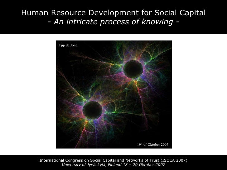 Human Resource Development for Social Capital -  An intricate process of knowing - International Congress on Social Capita...