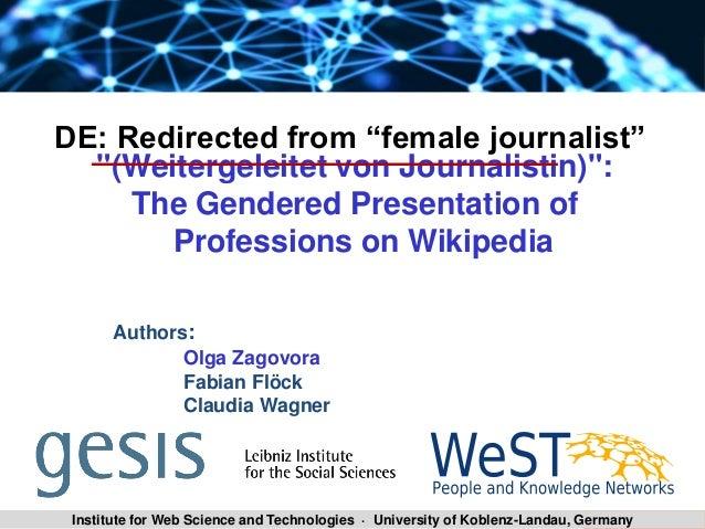 "SLA 2014/15 Zagovora Olga 1Institute for Web Science and Technologies · University of Koblenz-Landau, Germany ""(Weitergele..."