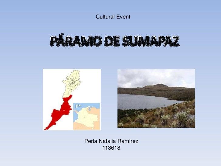Cultural Event<br />Perla Natalia Ramírez <br />113618<br />
