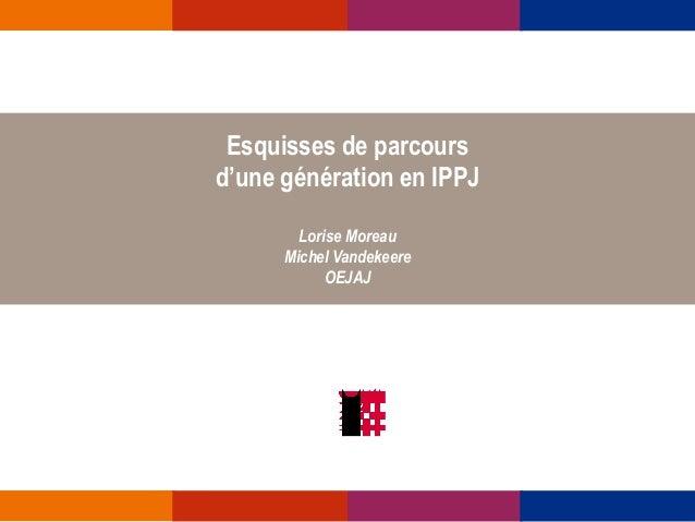 Esquisses de parcours d'une génération en IPPJ Lorise Moreau Michel Vandekeere OEJAJ
