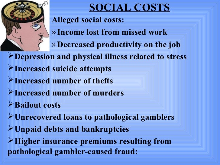 Social costs of casino gambling gambling casino in maryland