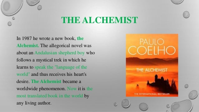 presentation about paulo coelho the alchemist