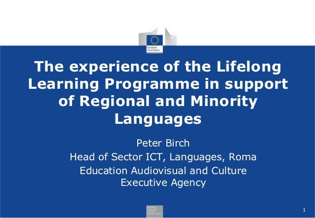 The experience of the LifelongLearning Programme in support   of Regional and Minority          Languages                 ...