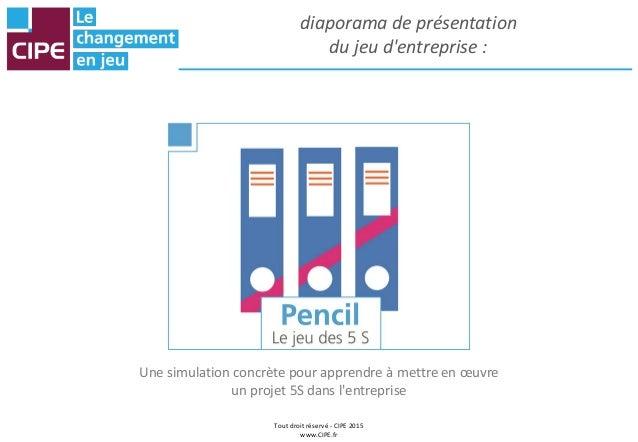 Tout droit réservé - CIPE 2015 www.CIPE.fr diaporama de présentation du jeu d'entreprise : Une simulation concrète pour ap...