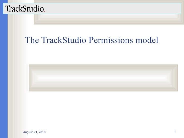 The TrackStudio Permissions model