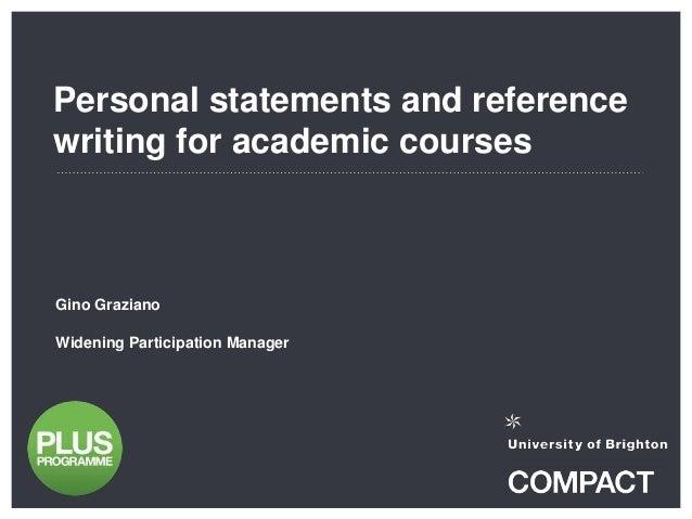 Personal academic writing