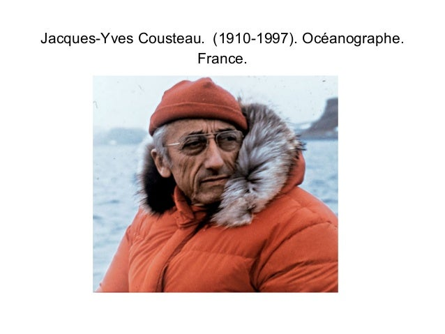 Jacques-Yves Cousteau. (1910-1997). Océanographe.  France.
