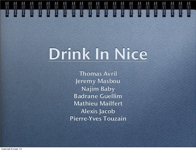 Drink In Nice                          Thomas Avril                         Jeremy Masbou                           Najim ...