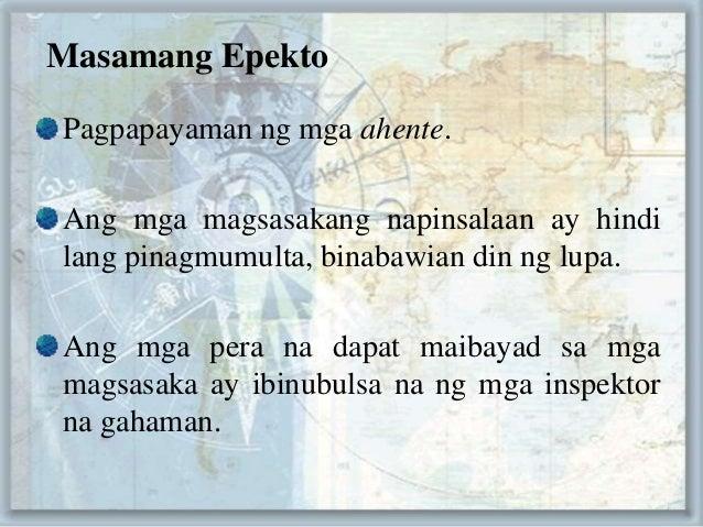 epekto ng kahirapan ng mga magsasaka Naisa-isa ang mga dahilan at epekto ng suliranin ng sektor ng  b problema sa  imprastruktura -inirereklamo ng maraming magsasaka ang.