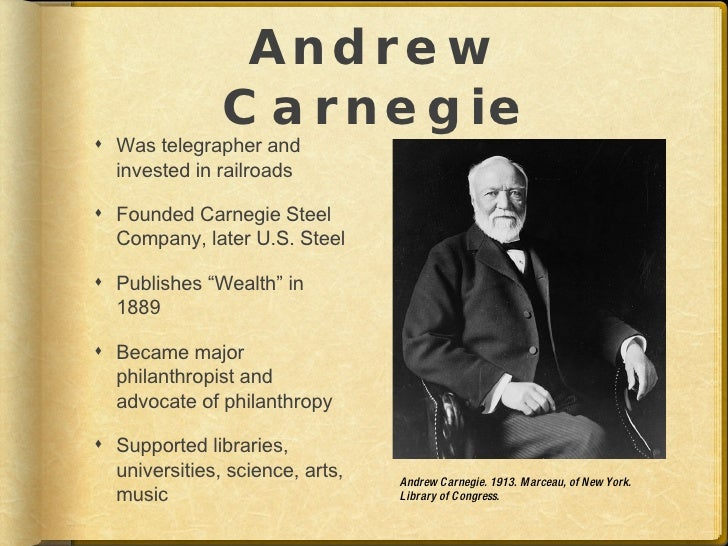 Carnegie the selfish philanthropist