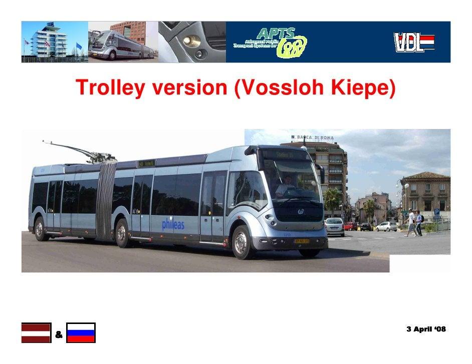 Trolley version (Vossloh Kiepe)                                           3 April '08 &