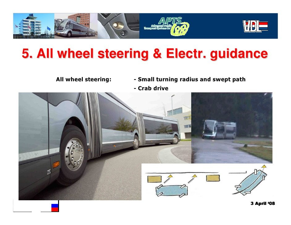 5. All wheel steering & Electr. guidance      All wheel steering:   - Small turning radius and swept path                 ...