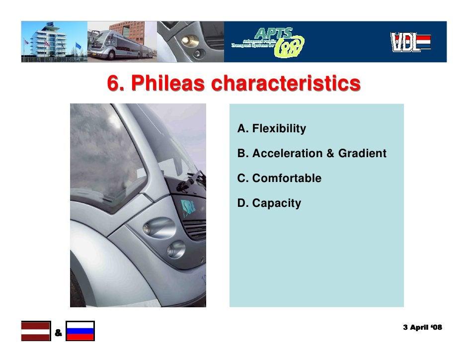 6. Phileas characteristics                  A. Flexibility                   B. Acceleration & Gradient                   ...