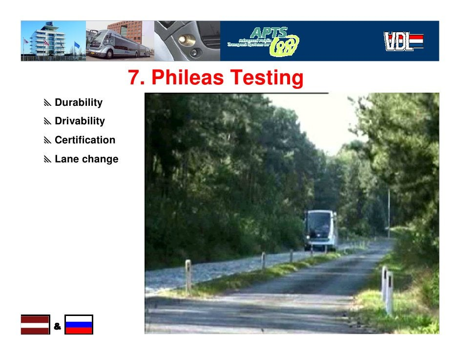 7. Phileas Testing yDurability yDrivability yCertification yLane change                                           3 April ...