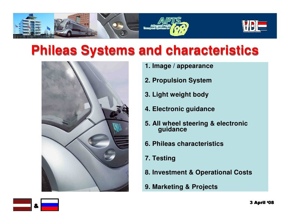 Phileas Systems and characteristics                  1. Image / appearance                   2. Propulsion System         ...