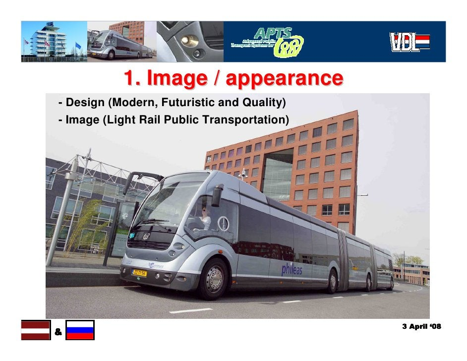 1. Image / appearance - Design (Modern, Futuristic and Quality) - Image (Light Rail Public Transportation)                ...