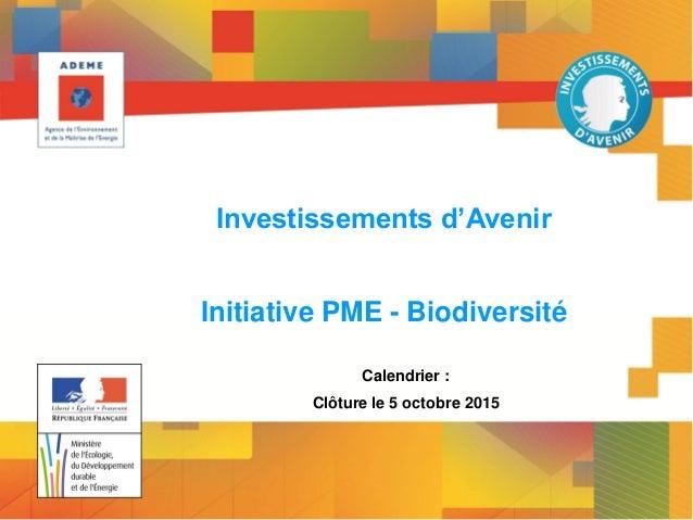 www.developpement-durable.gouv.fr Ministère de l'Écologie, du Développement durable et de l'Energie Investissements d'Aven...