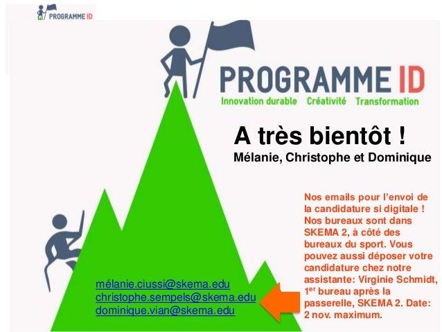 pr u00e9sentation programme id