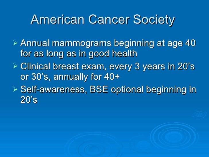 Breast cancer screening presentation pipp american cancer society toneelgroepblik Choice Image