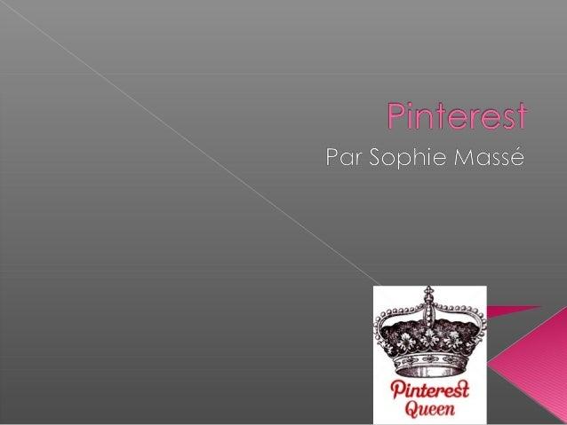  Le phénomène social de 2012. En 1 an Pinterest est parti tout petit pour  devenir le 3e média social en importance  dev...