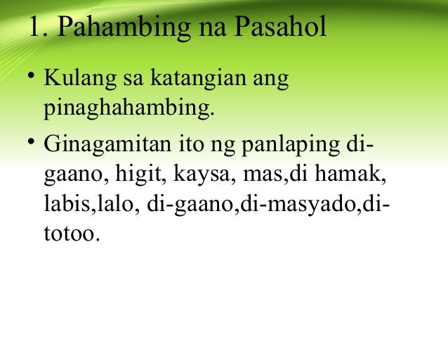 limang halimbawa ng pang uri na Ang pang-uri ay nagbibigay-turing sa pangngalan o panghalip an adjective  modifies a noun or pronoun pang-uring panlarawan descriptive.