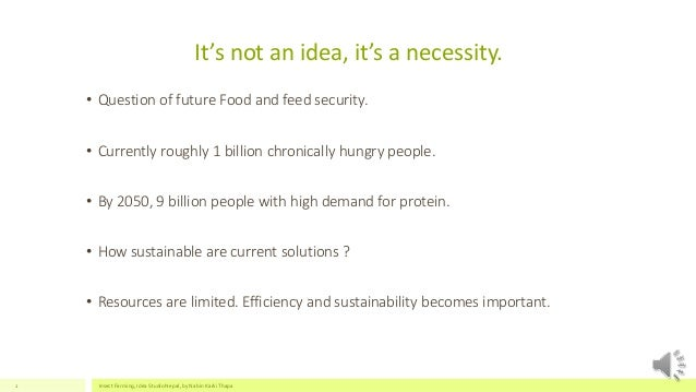 Prospects of Insect Farming Slide 2