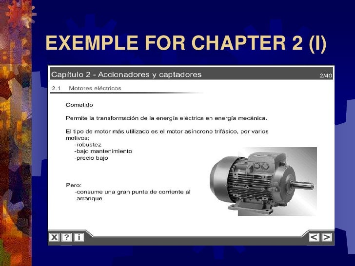 EXEMPLE FOR CHAPTER 2 (I)