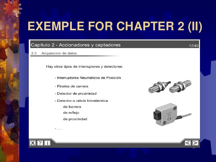 EXEMPLE FOR CHAPTER 2 (II)