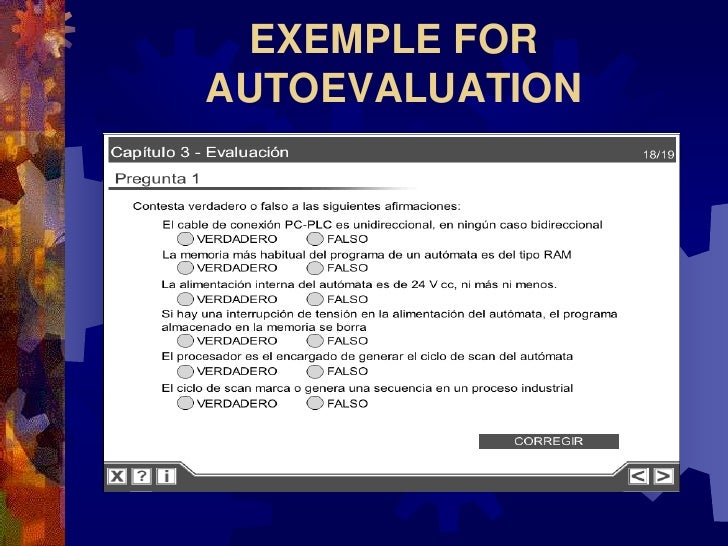 EXEMPLE FOR AUTOEVALUATION