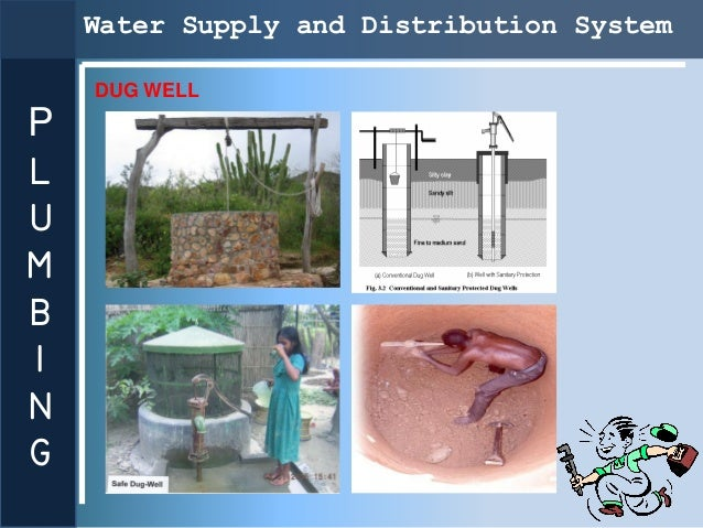 Water Supply and Distribution System    DUG WELLPLUMBING