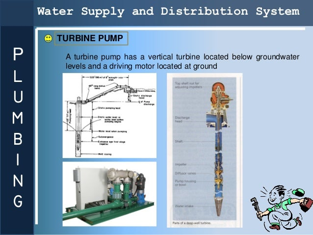 Water Supply and Distribution System      TURBINE PUMPP      A turbine pump has a vertical turbine located below groundwat...