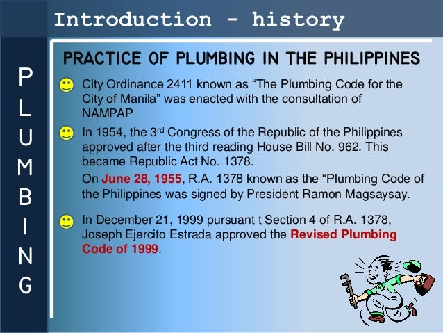 G Introduction History Practice Of Plumbing