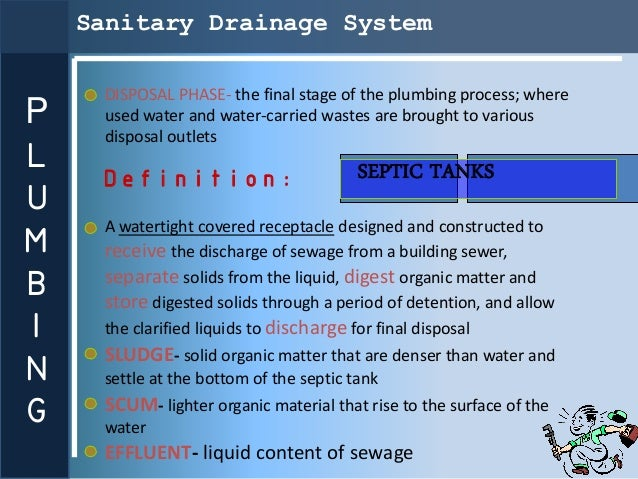 Sanitary Drainage System     DISPOSAL PHASE- the final stage of the plumbing process; whereP    used water and water-carri...