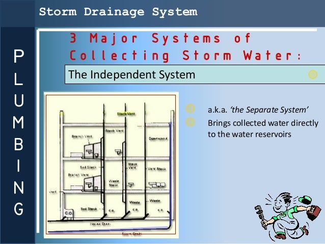Storm Drainage System       3 Major Systems ofP      Collecting Storm Water:L      The Independent SystemU                ...