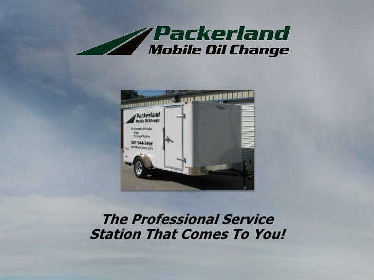 The Professional Service Station That Comes To You!