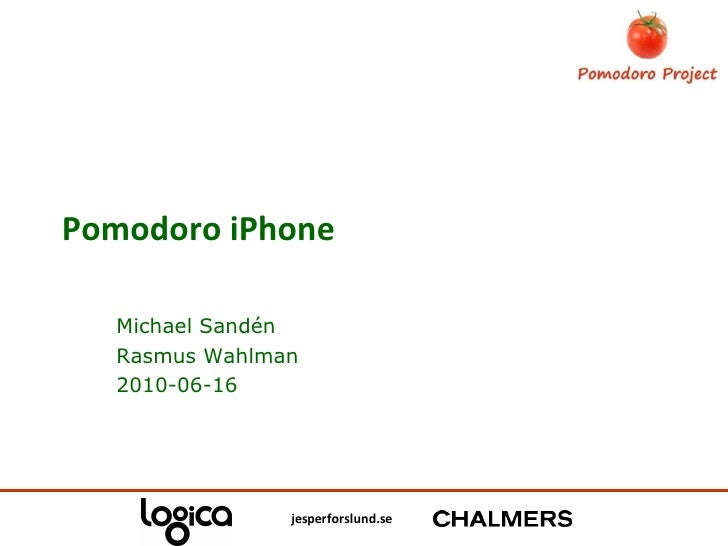 Pomodoro iPhone Michael Sandén Rasmus Wahlman 2010-06-16
