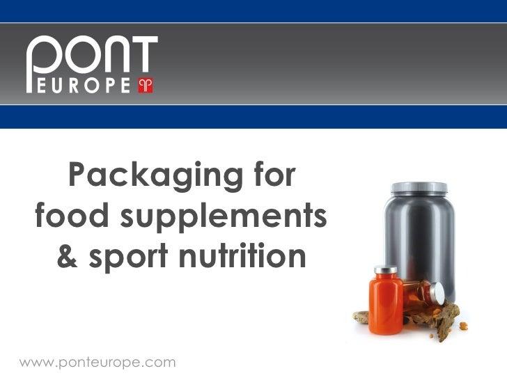 Presentation Pont   Food Supplements And Sport Nutrition Slide 2
