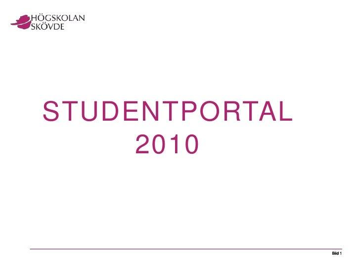 Studentportal 2010<br />