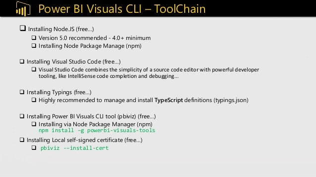 Creating custom visuals with Power BI Visuals CLI