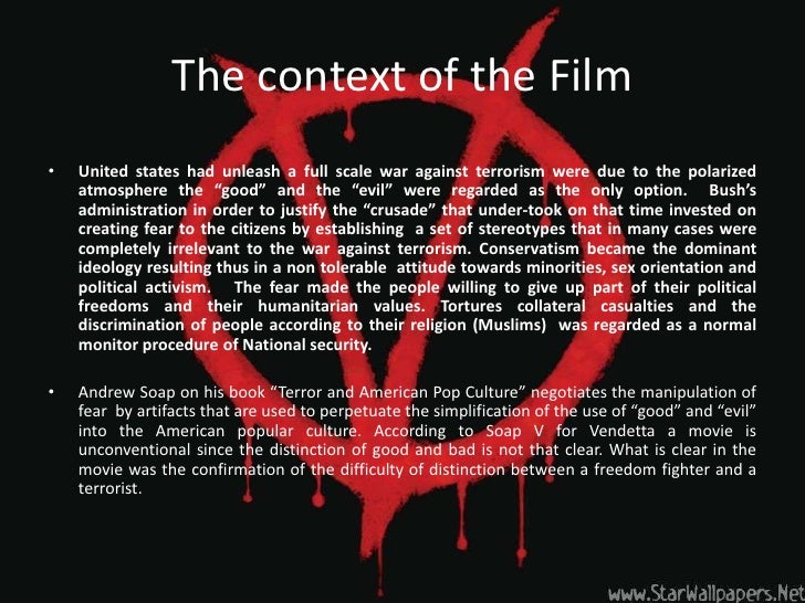 "v for vendetta analysis essay Essay on v for vendetta - of the many symbolic masks, the guy fawkes mask stands out as one of the most effective, often being used as a ""masked identity"" in order to make profound statements."